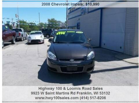 2008 Chevrolet Impala for sale at Highway 100 & Loomis Road Sales in Franklin WI