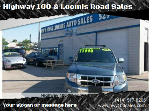 2012 Ford Escape for sale at Highway 100 & Loomis Road Sales in Franklin WI
