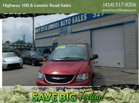 2003 Chrysler Town and Country for sale at Highway 100 & Loomis Road Sales in Franklin WI