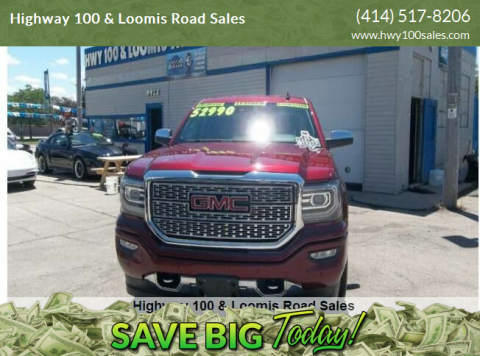 2017 GMC Sierra 1500 for sale at Highway 100 & Loomis Road Sales in Franklin WI