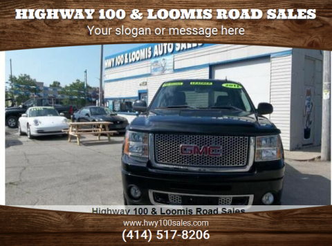 2011 GMC Sierra 1500 for sale at Highway 100 & Loomis Road Sales in Franklin WI