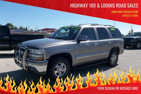 2003 Chevrolet Tahoe for sale at Highway 100 & Loomis Road Sales in Franklin WI