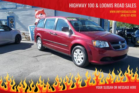 2014 Dodge Grand Caravan for sale at Highway 100 & Loomis Road Sales in Franklin WI