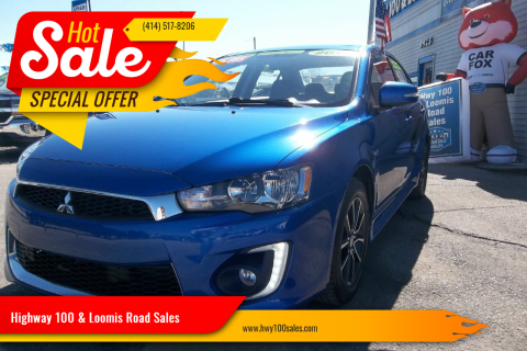 2017 Mitsubishi Lancer for sale at Highway 100 & Loomis Road Sales in Franklin WI