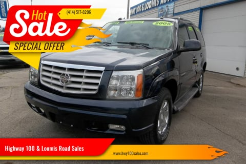 2005 Cadillac Escalade for sale at Highway 100 & Loomis Road Sales in Franklin WI