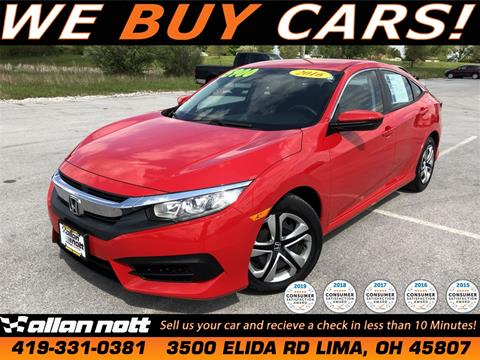 2016 Honda Civic for sale in Lima, OH