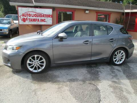 2012 Lexus CT 200h for sale at Auto Liquidators of Tampa in Tampa FL