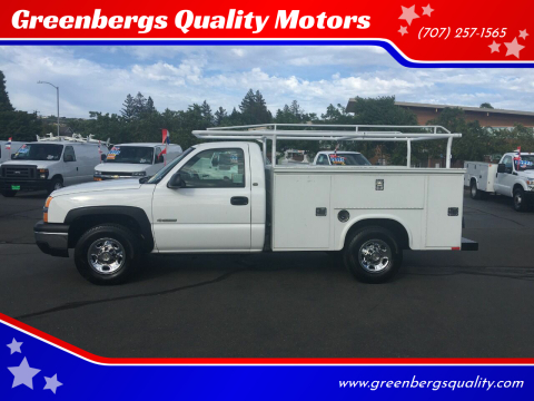 2003 Chevrolet Silverado 2500 Work Truck for sale at Greenbergs Quality Motors in Napa CA