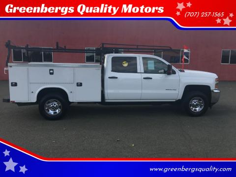 2018 Chevrolet Silverado 2500HD Work Truck for sale at Greenbergs Quality Motors in Napa CA