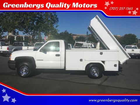 2006 Chevrolet Silverado 2500HD for sale at Greenbergs Quality Motors in Napa CA