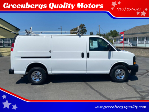 2017 GMC Savana Cargo for sale at Greenbergs Quality Motors in Napa CA