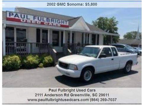 2002 GMC Sonoma for sale in Greenville, SC