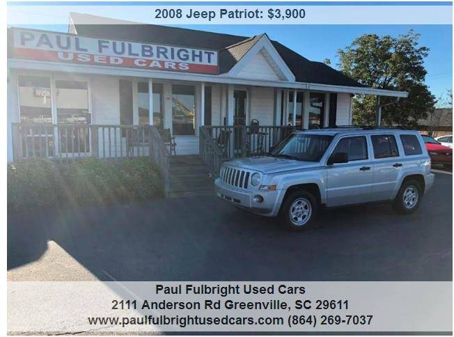 2008 Jeep Patriot Sport 4dr SUV W/CJ1 Side Airbag Package   Greenville SC