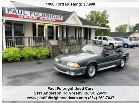 1988 Ford Mustang For Sale Carsforsale