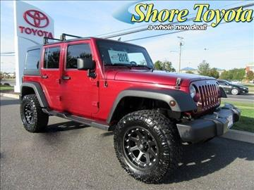 2012 Jeep Wrangler Unlimited for sale in Mays Landing, NJ
