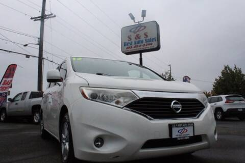 2012 Nissan Quest for sale at S&S Best Auto Sales LLC in Auburn WA