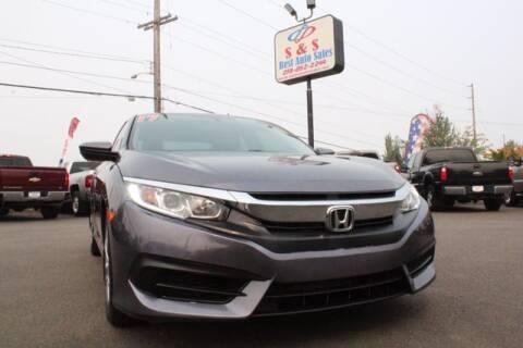 2017 Honda Civic for sale at S&S Best Auto Sales LLC in Auburn WA
