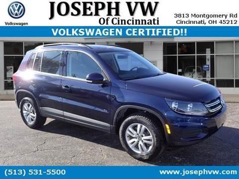 2016 Volkswagen Tiguan for sale in Cincinnati, OH