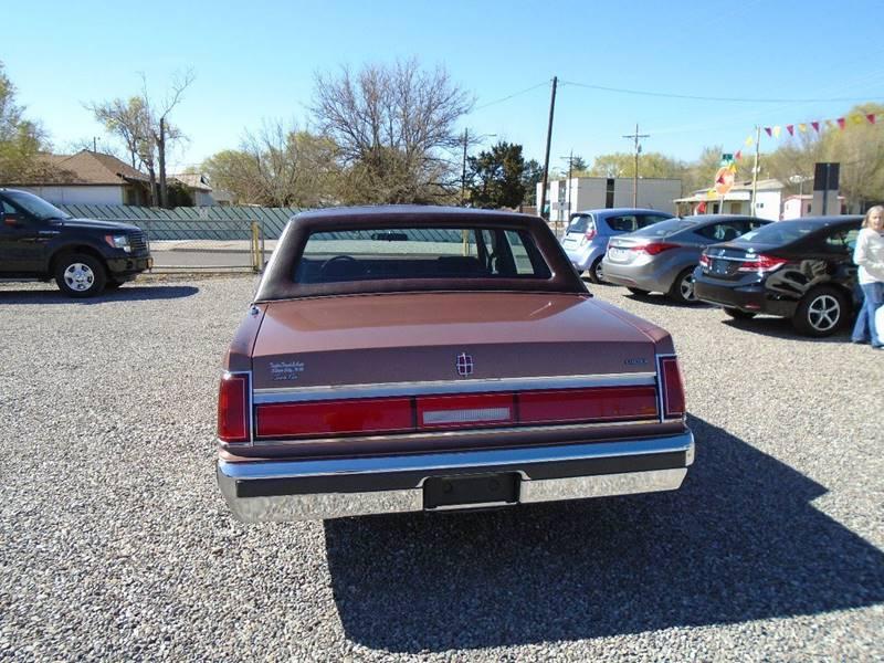 1985 Lincoln Town Car 4dr Sedan - Silver City NM
