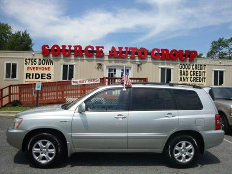 2003 Toyota Highlander for sale at Source Auto Group in Lanham MD