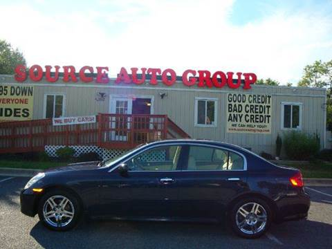 2005 Infiniti G35 for sale at Source Auto Group in Lanham MD