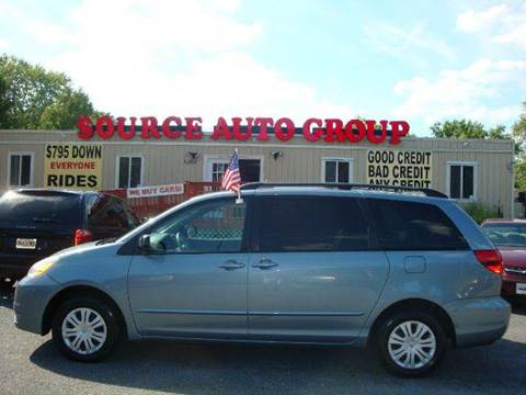 2004 Toyota Sienna for sale at Source Auto Group in Lanham MD