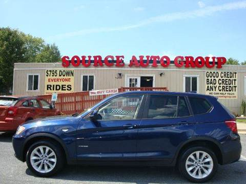 2014 BMW X3 for sale at Source Auto Group in Lanham MD