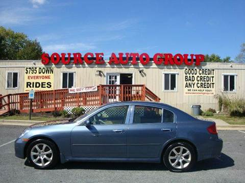 2006 Infiniti G35 for sale at Source Auto Group in Lanham MD