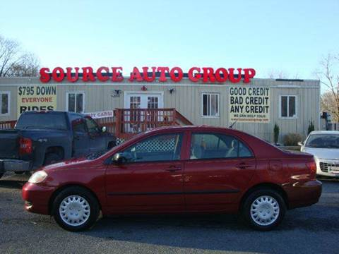 2007 Toyota Corolla for sale at Source Auto Group in Lanham MD