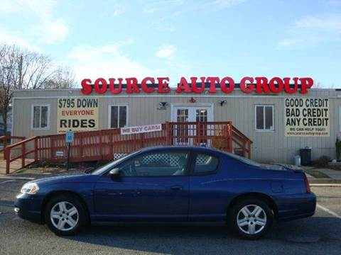 2006 Chevrolet Monte Carlo for sale at Source Auto Group in Lanham MD