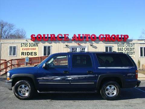 2003 Chevrolet Suburban for sale at Source Auto Group in Lanham MD