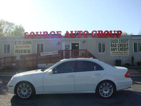 2008 Mercedes-Benz E-Class for sale at Source Auto Group in Lanham MD
