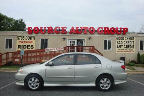2003 Toyota Corolla for sale at Source Auto Group in Lanham MD