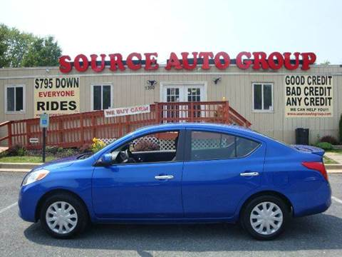 2013 Nissan Versa for sale at Source Auto Group in Lanham MD