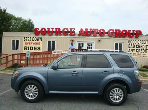 2010 Mercury Mariner for sale at Source Auto Group in Lanham MD