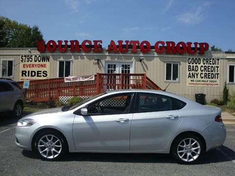 2013 Dodge Dart for sale at Source Auto Group in Lanham MD