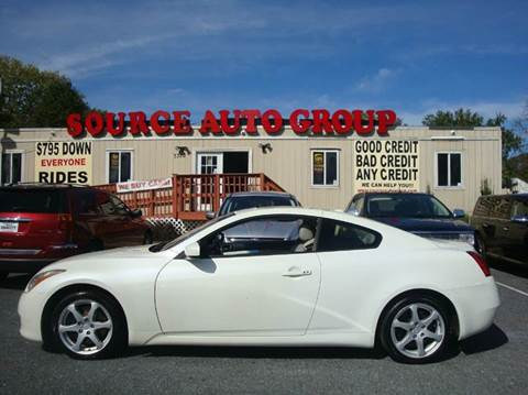 2008 Infiniti G37 for sale at Source Auto Group in Lanham MD