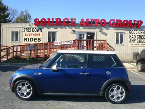 2003 MINI Cooper for sale at Source Auto Group in Lanham MD