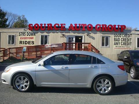 2012 Chrysler 200 for sale at Source Auto Group in Lanham MD