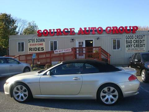 2005 BMW 6 Series for sale at Source Auto Group in Lanham MD