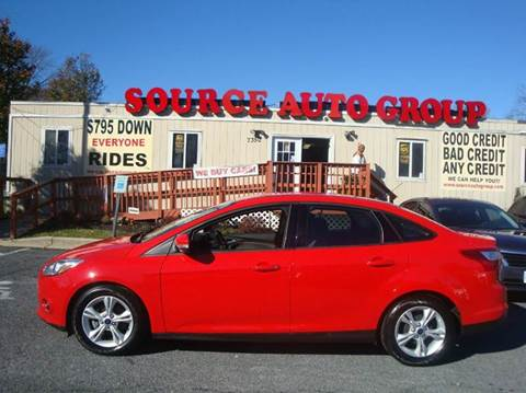 2014 Ford Focus for sale at Source Auto Group in Lanham MD