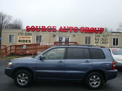 2005 Toyota Highlander for sale at Source Auto Group in Lanham MD