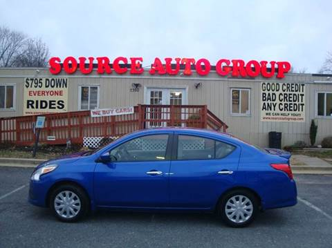 2015 Nissan Versa for sale at Source Auto Group in Lanham MD