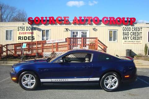 2012 Ford Mustang for sale at Source Auto Group in Lanham MD