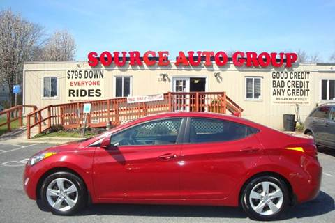 2013 Hyundai Elantra for sale at Source Auto Group in Lanham MD