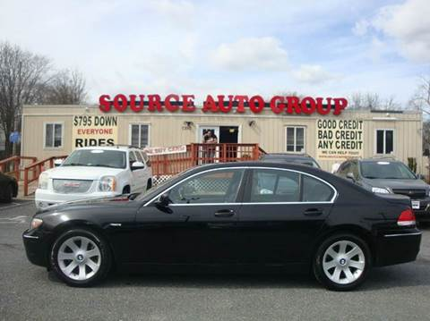 2008 BMW 7 Series for sale at Source Auto Group in Lanham MD