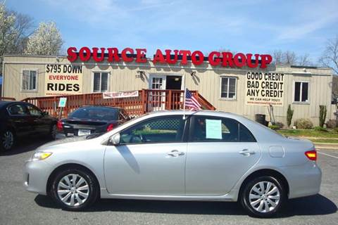 2012 Toyota Corolla for sale at Source Auto Group in Lanham MD