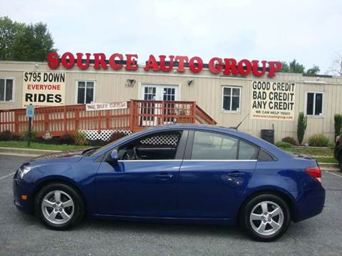 2012 Chevrolet Cruze for sale at Source Auto Group in Lanham MD