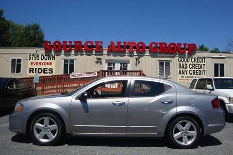 2013 Dodge Avenger for sale at Source Auto Group in Lanham MD