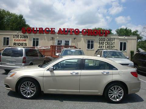 2013 Chrysler 200 for sale at Source Auto Group in Lanham MD